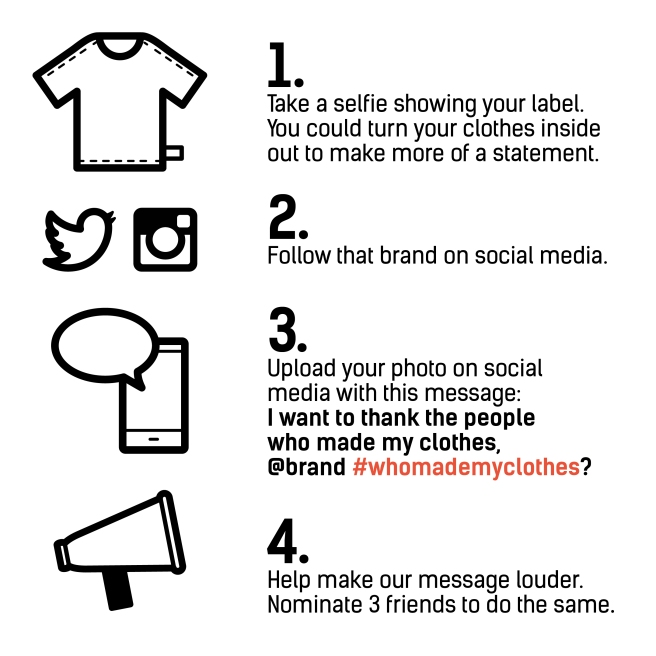 Fashion Revolution instructions